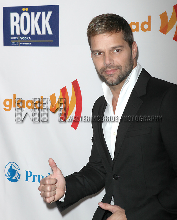 Ricky Martin.attending the 22nd Annual GLAAD Media Awards in New York City.