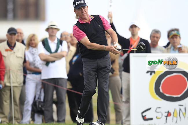 Miguel Angel Jimenez (ESP) tees off the 16th tee during Friday's Round 2 of the 2013 Open de Espana at Campo de Golf Parador de El Saler. 19th Aprill 2013..Picture: Eoin Clarke www.golffile.ie.