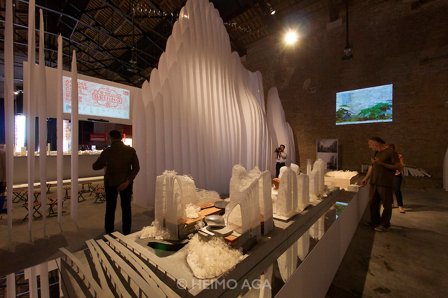 Venice, Italy. 14th Architecture Biennale 2014, &quot;fundamentals&quot;.<br /> Arsenale Nord.<br /> &quot;Across Chinese Cities - Beijing&quot;
