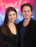 "Phillipa Soo and Steven Pasquale attends the Broadway Opening Night Arrivals for ""Angels In America"" - Part One and Part Two at the Neil Simon Theatre on March 25, 2018 in New York City."