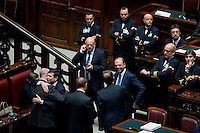 Roma, 31 Gennaio 2014<br /> Camera dei Deputati - Voto sulle pregiudiziali di costituzionalità della legge elettorale<br /> Il ministro Maurizio Lupi e il ministro Angelino Alfano
