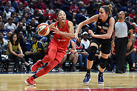 Washington, DC - August 25, 2019: Washington Mystics forward Aerial Powers (23) drives to the basket past New York Liberty guard Marine Johannes (23) during second half action of game between the New York Liberty and the Washington Mystics at the Entertainment and Sports Arena in Washington, DC. The Mystics defeated New York 101-72. (Photo by Phil Peters/Media Images International)