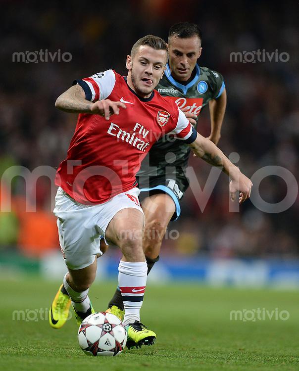 FUSSBALL   CHAMPIONS LEAGUE   VORRUNDE     SAISON 2013/2014    Arsenal London - SSC Neapel   01.10.2013 Jack Wilshere (Arsenal) Einzelaktion am Ball