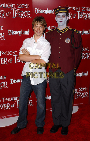 JEREMY SUMPTER.The Twilight Zone Tower of Terror Premiere Party .May 4,2004.full length, full-length, arms crossed, white shirt.www.capitalpictures.com.sales@capitalpictures.com.©Capital Pictures
