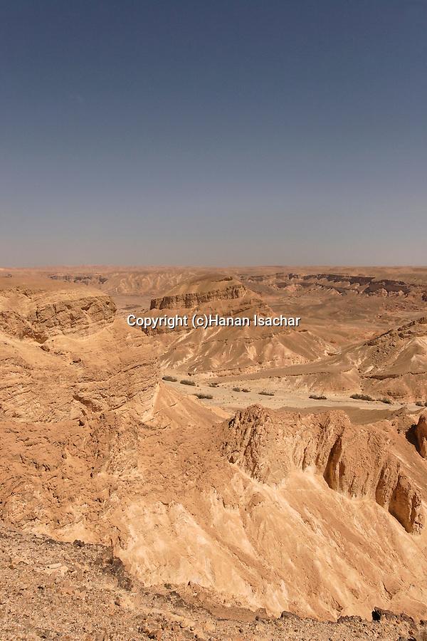 Israel, the Negev desert. A view of Wadi Paran
