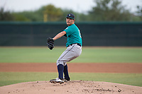AZL Mariners starting pitcher Joey O'Brien (16) delivers a pitch during an Arizona League game against the AZL White Sox at Camelback Ranch on July 8, 2018 in Glendale, Arizona. The AZL White Sox defeated the AZL Mariners 8-5. (Zachary Lucy/Four Seam Images)