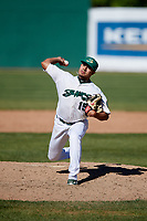 Beloit Snappers relief pitcher Xavier Altamirano (15) delivers a pitch during a game against the Bowling Green Hot Rods on May 7, 2017 at Pohlman Field in Beloit, Wisconsin.  Bowling Green defeated Beloit 6-2.  (Mike Janes/Four Seam Images)