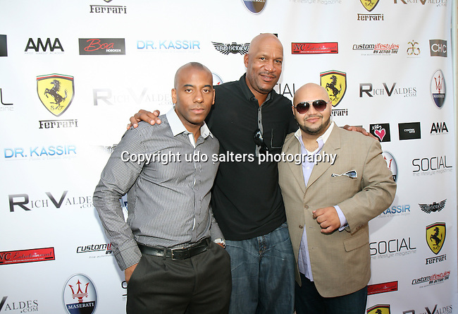 Social Magazine's Sinclair, Former NBA Player Ron Harper and VH-1's Event Producer Rich Valdes Attend Metropolitan Bikini Fashion Weekend 2013 Held at BOA Sponsored by Social Magazine, Maserati and Ferrari, Hoboken NJ