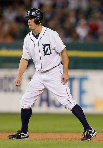 September 26, 2011:  Detroit Tigers third baseman Brandon Inge (#15) during MLB game action between the Cleveland Indians and the Detroit Tigers at Comerica Park in Detroit, Michigan.  The Tigers defeated the Indians 14-0.