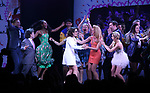 Jeff Richmond and Tina Fey with cast during the Broadway Opening Night Performance Curtain Call of 'Mean Girls' at the August Wilson Theatre on April 8, 2018 in New York City.