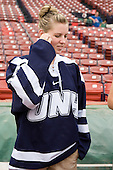 Micaela Long (UNH - player) -  - A press conference hosted by the Hockey East Association, the Boston Red Sox and Fenway Sports Group was held on Thursday, August 20, 2009, at Fenway Park in Boston, MA, to announce that there would be a Hockey East college hockey doubleheader on Friday, January 8, 2010, held on the ice that will be used for the January 1, 2010 NHL Winter Classic.  The afternoon (4:00 pm EST) match will be between the Northeastern University Huskies (home team) and University of New Hampshire Wildcats women's teams while the evening (7:30 pm EST) match will be between the Boston College Eagles (home team) and the Boston University Terriers men's teams.