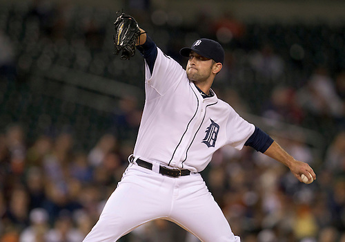 September 26, 2011:  Detroit Tigers relief pitcher Duane Below (#64) delivers pitch during MLB game action between the Cleveland Indians and the Detroit Tigers at Comerica Park in Detroit, Michigan.  The Tigers defeated the Indians 14-0.