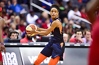 Washington, DC - June 3, 2018: Connecticut Sun guard Jasmine Thomas (5) in action during game between the Washington Mystics and Connecticut Sun at the Capital One Arena in Washington, DC. (Photo by Phil Peters/Media Images International)