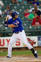 Round Rock Express first baseman Mike Bianucci #33 at bat during the Pacific Coast League baseball game against the Oklahoma City RedHawks on June 15, 2012 at the Dell Diamond in Round Rock, Texas. The Express shutout the RedHawks 2-1. (Andrew Woolley/Four Seam Images).
