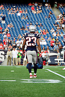 Thursday August 11, 2016: New England Patriots strong safety Patrick Chung (23) warms up prior to an NFL pre-season game between the New Orleans Saints and the New England Patriots held at Gillette Stadium in Foxborough Massachusetts. The Patriots defeat the Saints 34-22 in regulation time. Eric Canha/CSM