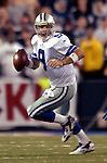 8 October 2007: Dallas Cowboys quarterback Tony Romo in action against the Buffalo Bills at Ralph Wilson Stadium in Buffalo, New York. The Cowboys rallied to defeat the Bills 25-24, thus winning their fifth consecutive game of the season...Mandatory Photo Credit: Ed Wolfstein Photo