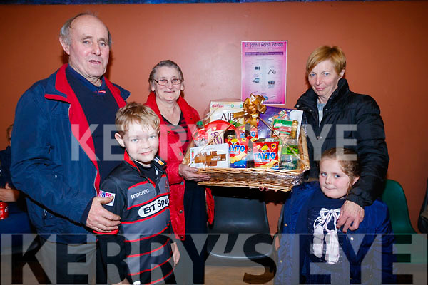 Dan Lawlor, Bobby Fitzpatrick, Eileen Lawlor, Mary Prendiville and Noreen Prendiville, pictured at St. John's Parish Bazaar, held at the KDYS, Tralee on Saturday night last.
