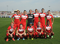 Boyds MD - April 13, 2014: Washington Spirit Team Photo The Western New York Flash defeated the Washington Spirit 3-1 in the opening game of the 2014 season of the National Women's Soccer League at the Maryland SoccerPlex.
