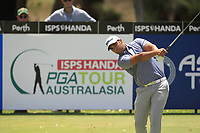 Dimitrios Papadatos (AUS) in action on the 2nd during Round 1 of the ISPS Handa World Super 6 Perth at Lake Karrinyup Country Club on the Thursday 8th February 2018.<br /> Picture:  Thos Caffrey / www.golffile.ie<br /> <br /> All photo usage must carry mandatory copyright credit (&copy; Golffile | Thos Caffrey)