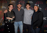 "WEST HOLLYWOOD - NOVEMBER 11: Elizabeth Chai Vasarhelyi, Tim McGraw, Alex Honnold, and Jimmy Chin attend a screening of National Geographic's ""Free Solo"" at Pacific Design Center on November 11, 2018 in West Hollywood, California. (Photo by Frank Micelotta/National Geographic/PictureGroup)"