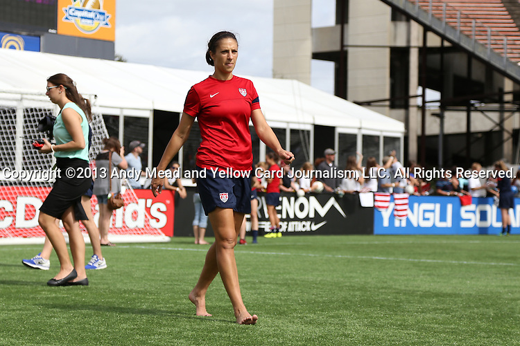 09 November 2013: Midfielder Carli Lloyd. The United States Women's National Team held a Training Session at the Citrus Bowl in Orlando, Florida