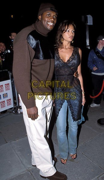 AUDLEY HARRISON & GABRIELLE RICHENS..FHM Sexiest Women Party ..Ref: 11725..white trousers, brown sweater, lingerie, lace wrap around, see through, see thru..www.capitalpictures.com..sales@capitalpictures.com..©Capital Pictures..full length, full-length