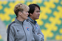 20190304 - LARNACA , CYPRUS : Dutch Advisor for Thailand  Vera Pauw (left) pictured during a women's soccer game between Italy and Thailand , on Monday 4 March 2019 at the AEK Arena in Larnaca , Cyprus . This is the third game in group B for both teams during the Cyprus Womens Cup 2019 , a prestigious women soccer tournament as a preparation on the FIFA Women's World Cup 2019 in France . PHOTO SPORTPIX.BE | STIJN AUDOOREN