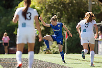 Seattle, WA - Sunday, May 1, 2016: Seattle Reign FC midfielder Kim Little (8) traps the ball during a National Women's Soccer League (NWSL) match at Memorial Stadium.
