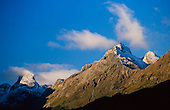 The Ailsa Mountains as seen from the Hollyford valley lookout, Fiordland National Park, South Island, New Zealand.
