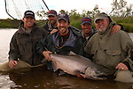 Happy Anglers in Alaska with King Salmon