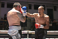 Ellis Zorro (black shorts) defeats Remgiju Ziausys during a Boxing Show at York Hall on 8th September 2018