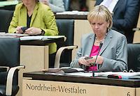 Berlin, die Ministerpräsidentin von Nordrhein-Westfalen, Hannelore Kraft (SPD), am Freitag (03.05.13) bei der 909. Sitzung des Bundesrats in Berlin.
