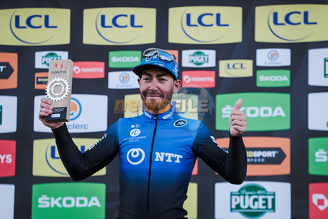 Giacomo Nizzolo (ITA) NTT Pro Cycling Team wins Stage 2 of the 78th edition of Paris-Nice 2020, running 166.5km form Chevreuse to Chalette-sur-Loing, France. 9th March 2020.<br /> Picture: ASO/Fabien Boukla | Cyclefile<br /> All photos usage must carry mandatory copyright credit (© Cyclefile | ASO/Fabien Boukla)