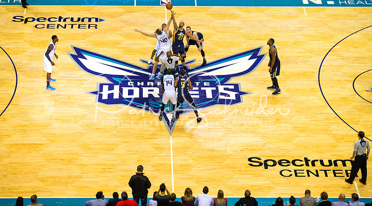 Photography of the Charlotte Hornets vs. the Utah Jazz at the Spectrum Center in Uptown Charlotte, North Carolina. <br /> <br /> Charlotte Photographer - Patrick SchneiderPhoto.com