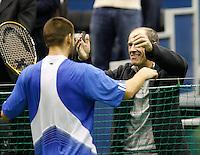 25-2-07,Tennis,Netherlands,Rotterdam,ABNAMROWTT,    Mikhail Youzhny celebrates his victory with his coach