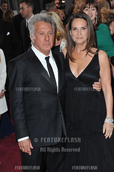 Dustin Hoffman & Lisa Hoffman at the 85th Academy Awards at the Dolby Theatre, Hollywood..February 24, 2013  Los Angeles, CA.Picture: Paul Smith / Featureflash