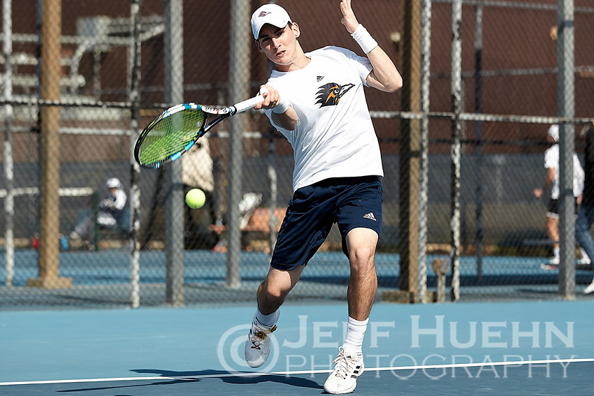 SAN ANTONIO, TX - FEBRUARY 2, 2018: The University of Texas at San Antonio Roadrunners fall to the University of Louisiana-Lafayette Ragin' Cajuns 4-3 at the UTSA Tennis Center. (Photo by Jeff Huehn)