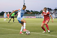 Boyds, MD - Saturday June 03, 2017:  Poliana Barbosa Medeiros, Shelina Zadorsky during a regular season National Women's Soccer League (NWSL) match between the Washington Spirit and the Houston Dash at Maureen Hendricks Field, Maryland SoccerPlex