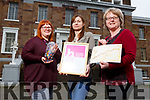 Kerry Geo Adventures with Kerry County Museum received the Hidden Heritage Award at the recent National Heritage Awards.  <br /> L to r, Claudia Kohler (Kerry County Museum Education Officer), Gosia Shaikh-Horajska (Kerry Geo) and Helen O'Carroll (Kerry County Museum Curator).