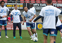 Paul Hayes of Wycombe Wanderers warms up ahead of the Sky Bet League 2 match between Leyton Orient and Wycombe Wanderers at the Matchroom Stadium, London, England on 1 April 2017. Photo by Andy Rowland.
