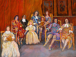 Versailles; Louie XIV and Family<br /> 30x40 Acrylic on Canvas<br /> $22,000