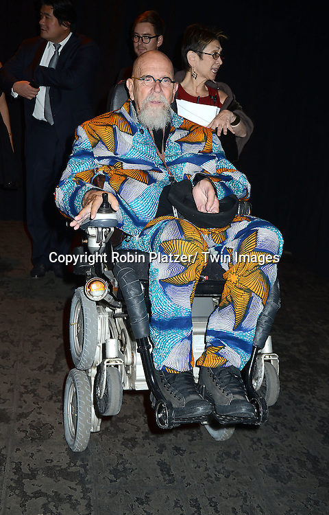Chuck Close attends the 2013 Whitney Gala & Studio party honoring artist Ed Ruscha on October 23, 2013 at Skylight at Moynihan Station in New York City.