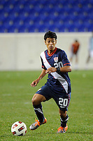 Esteban Rodriguez (20) of the USA. The USMNT U-17 defeated New York Red Bulls U-18 4-1 during a friendly at Red Bull Arena in Harrison, NJ, on October 09, 2010.