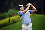TAIPEI, TAIWAN - NOVEMBER 18:  Chris Williams of South Africa tees off on the 16th hole during day one of the Fubon Senior Open at Miramar Golf & Country Club on November 18, 2011 in Taipei, Taiwan. Photo by Victor Fraile / The Power of Sport Images