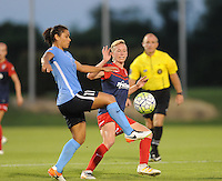 Boyds, MD - Saturday June 25, 2016: Raquel Rodriguez, Joanna Lohman during a United States National Women's Soccer League (NWSL) match between the Washington Spirit and Sky Blue FC at Maureen Hendricks Field, Maryland SoccerPlex.