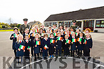 Irish defence forces Lt Denis Sheahan and  Gunner Noel Lynch presented the Tri Colour and Proclamation to Ballincrossig National School in Ballyduff on Thursday