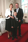 Seamus, Anne and Eoin Reilly at the First Holy Communion in Walshestown...Photo NEWSFILE/Jenny Matthews.(Photo credit should read Jenny Matthews/NEWSFILE)....This Picture has been sent you under the condtions enclosed by:.Newsfile Ltd..The Studio,.Millmount Abbey,.Drogheda,.Co Meath..Ireland..Tel: +353(0)41-9871240.Fax: +353(0)41-9871260.GSM: +353(0)86-2500958.email: pictures@newsfile.ie.www.newsfile.ie.FTP: 193.120.102.198.