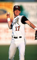 Ricky Bell of the San Bernardino Stampede participates in minor league baseball game during the 1998 season at San Manuel Stadium in San Bernardino, California. (Larry Goren/Four Seam Images)