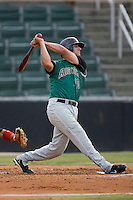 Andrew Davis (10) of the Augusta GreenJackets follows through on his swing at Fieldcrest Cannon Stadium in Kannapolis, NC, Wednesday August 21, 2008. (Photo by Brian Westerholt / Four Seam Images)