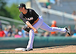 13 March 2012: Miami Marlins pitcher Robert Ray on the mound during a Spring Training game against the Atlanta Braves at Roger Dean Stadium in Jupiter, Florida. The two teams battled to a 2-2 tie playing 10 innings of Grapefruit League action. Mandatory Credit: Ed Wolfstein Photo